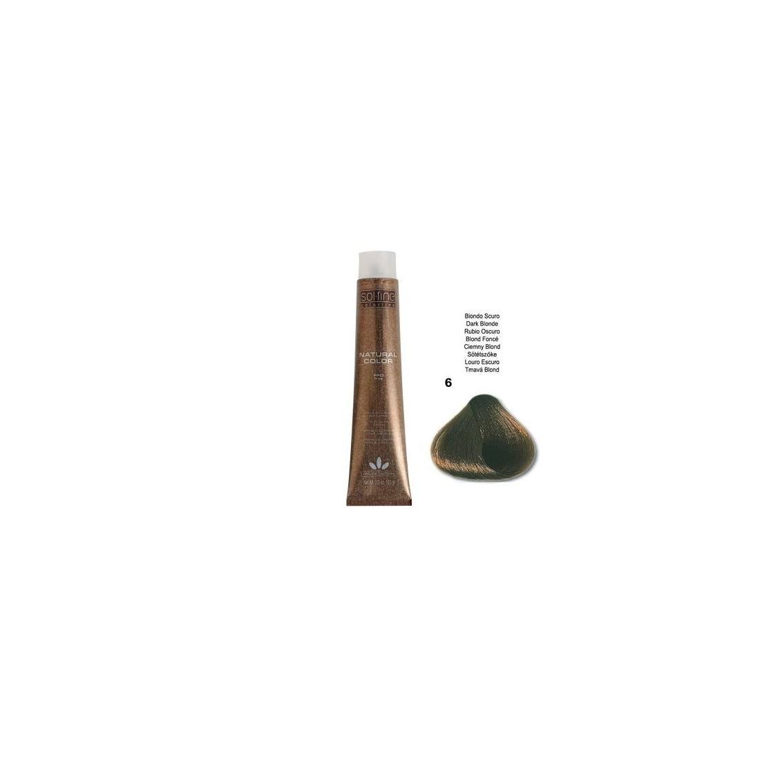 COLORATION SANS PPD - SOL.FINE - BLOND FONCE N° 6 - 100 ml