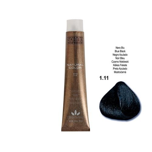 coloration sans ppd solfine noir bleute n 111 100 ml - Coloration Noir Bleut