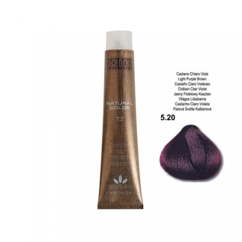 COLORATION SANS PPD - SOL.FINE - CHATAÏN CLAIR VIOLET N ° 5 . 20 - 100 ml