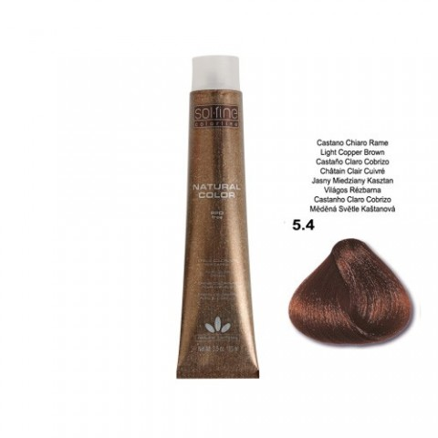 COLORATION SANS PPD - SOL.FINE - CHATAÏN CLAIR CUIVRE  N ° 5 . 4 - 100 ml
