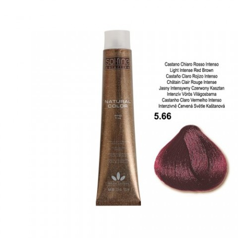 COLORATION SANS PPD - SOL.FINE - CHATAÏN CHI ROUGE INTENSE  N° 5 . 66 - 100 ml