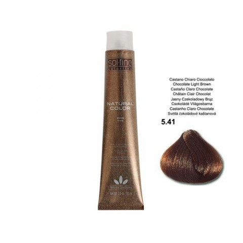 COLORATION SANS PPD - SOL.FINE - CHATAÏN FONCE CHOCOLAT  N° 5 . 41 - 100 ml