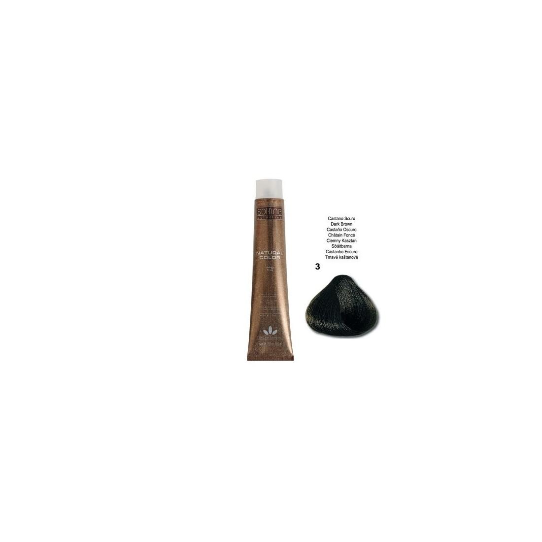 COLORATION SANS PPD - SOL.FINE - CHÂTAIN FONCE N° 3 - 100 ml