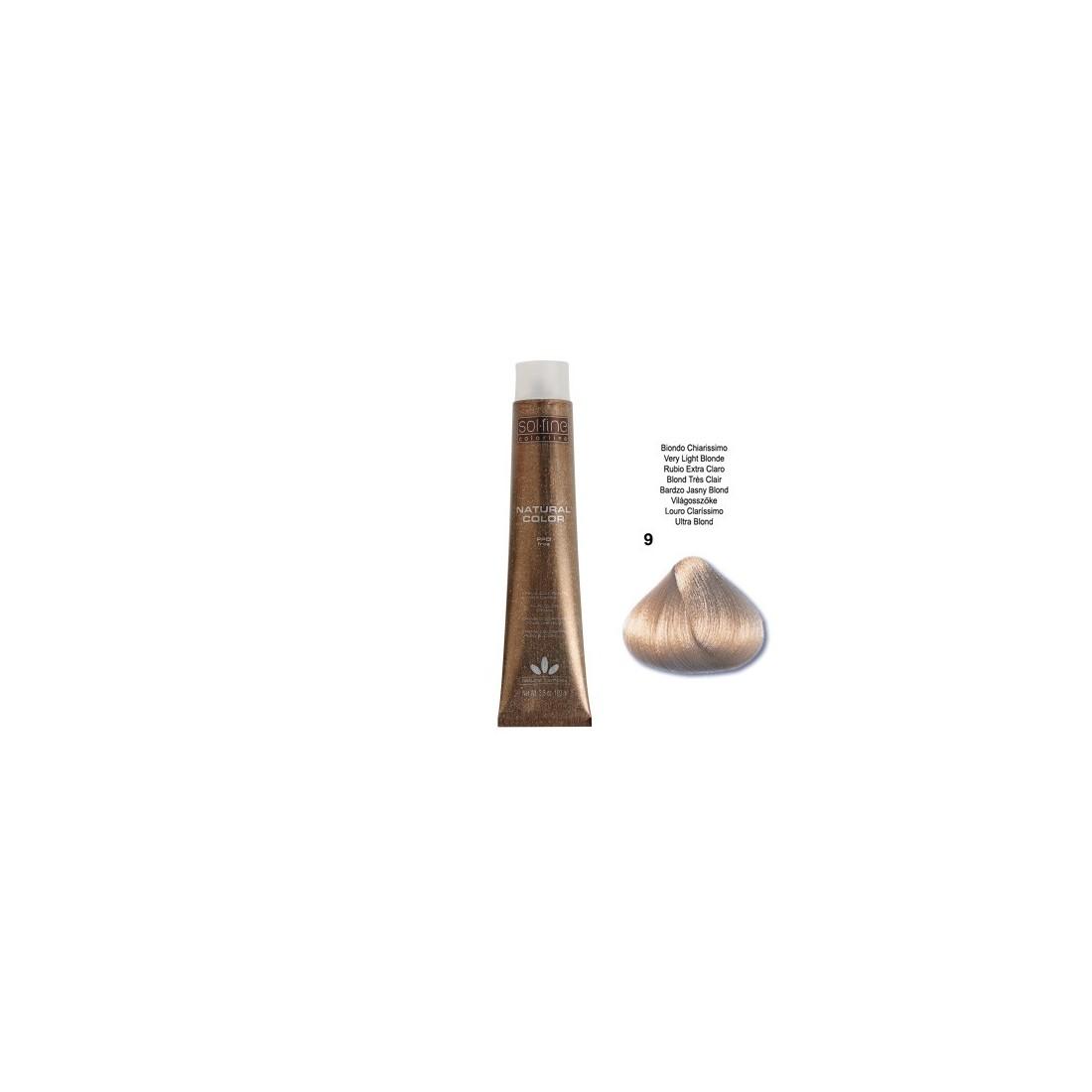 COLORATION SANS PPD - SOL.FINE - BLOND TRES CLAIR N°9 - 100 ml