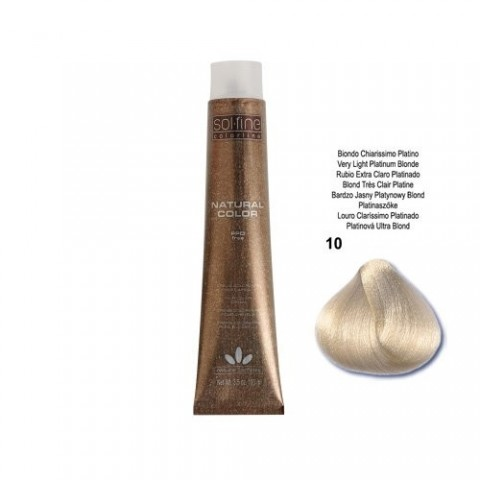 COLORATION SANS PPD - SOL.FINE - BLOND TRES CLAIR PLATINE N° 10 - 100 ml