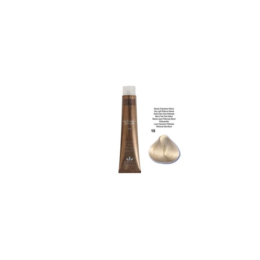 COLORATION SANS PPD - SOL.FINE - BLOND TRES CLAIR PLATINE N°10 - 100 ml
