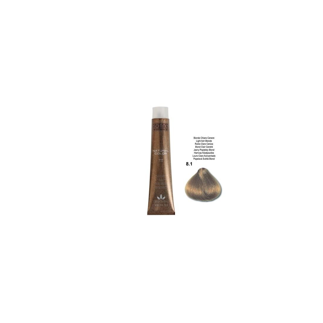 COLORATION SANS PPD - SOL.FINE - BLOND CLAIR CENDRE N° 8.1 - 100 ml