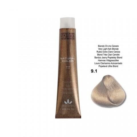 COLORATION SANS PPD - SOL.FINE - BLOND TRES CLAIR CENDRE N° 9 . 1 - 100 ml
