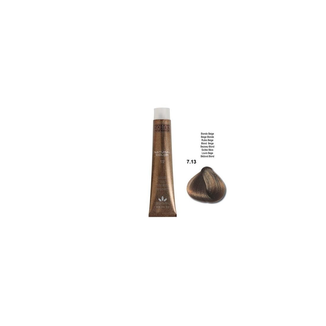 COLORATION SANS PPD - SOL.FINE - BLOND BEIGE  N° 7 . 13 - 100 ml