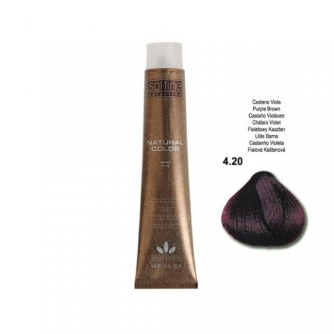 COLORATION SANS PPD - SOL.FINE - CHATAÏN VIOLET N° 4 . 20 - 100 ml