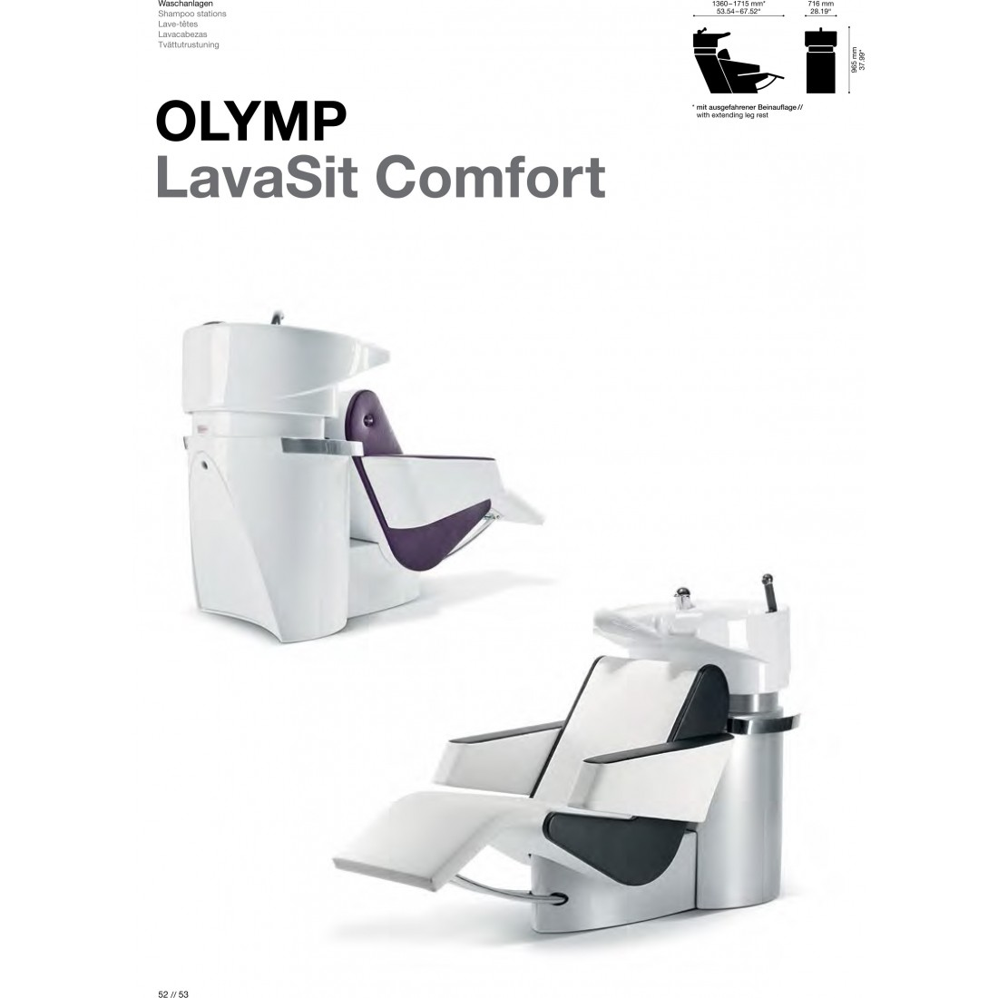 BAC A SHAMPOING OLYMP LAVASIT CONFORT