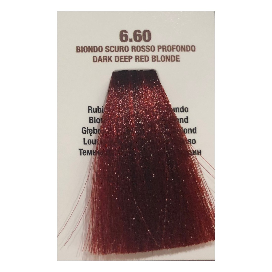 COLORATION SANS PPD - SOL.FINE - BLOND FONCE ROUGE PROFOND  N ° 6 . 60 - 100 ml