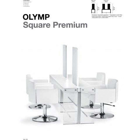 TABLE DE COIFFAGE OLYMP SQUARE PREMIUM
