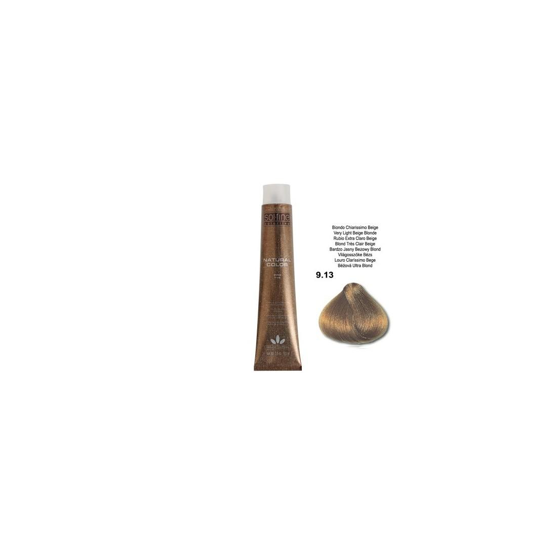 COLORATION SANS PPD - SOL.FINE - BLOND TRES CLAIR BEIGE  N° 9 . 13 - 100 ml