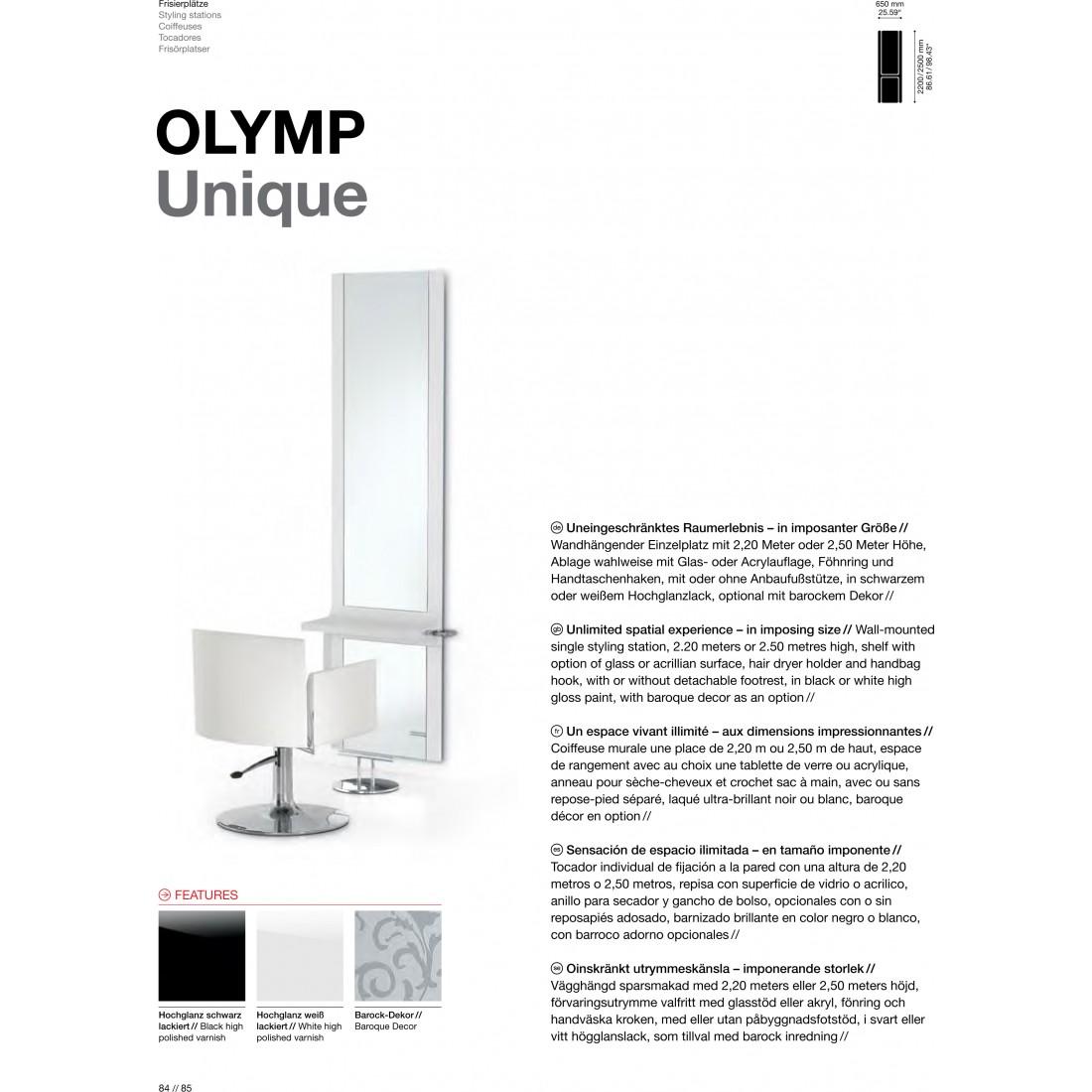 TABLE DE COIFFAGE OLYMP UNIQUE