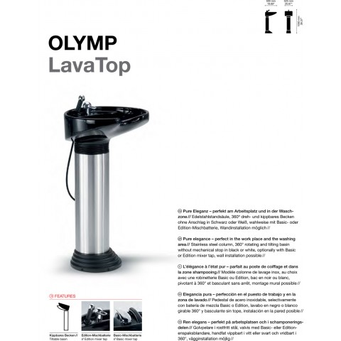 BAC A SHAMPOING OLYMP LAVATOP