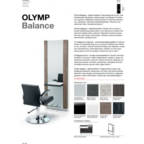 TABLE DE COIFFAGE OLYMP BALANCE