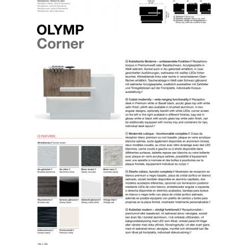 COMPTOIR RECEPTION OLYMP CORNER