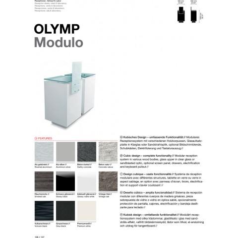 COMPTOIR RECEPTION OLYMP MODULO