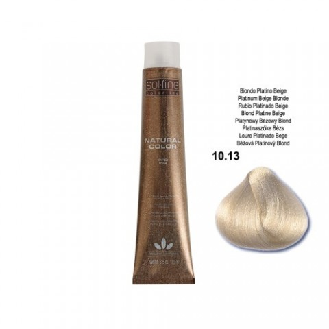 COLORATION SANS PPD - SOL.FINE - BLOND PLATINE BEIGE  N° 10 . 13 - 100 ml