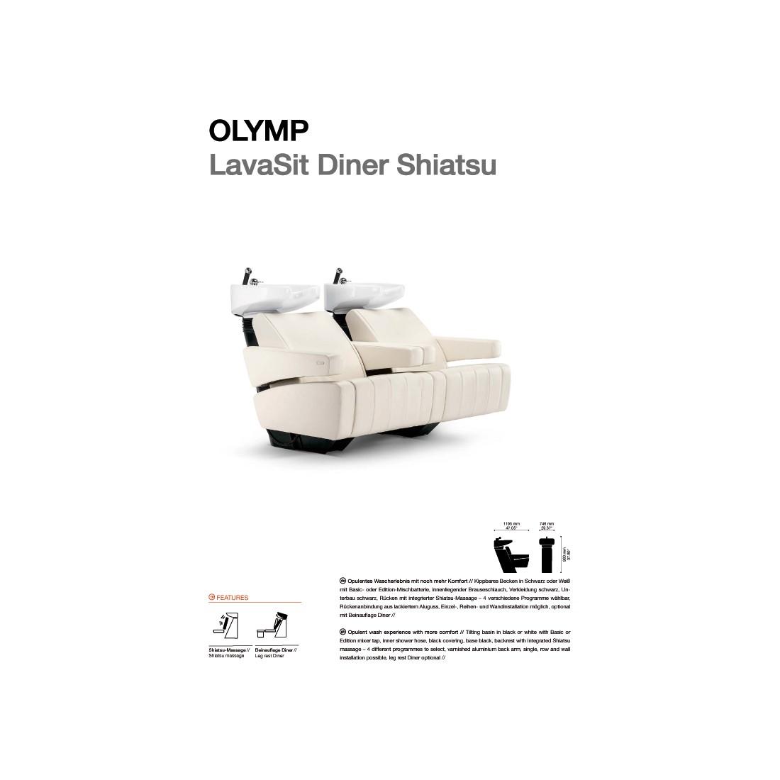 BAC A SHAMPOING OLYMP LAVASIT DINER SHIATSU