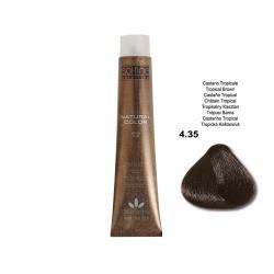 COLORATION SANS PPD - SOL.FINE - CHATAÏN TROPICAL  N° 4 . 35 - 100 ml