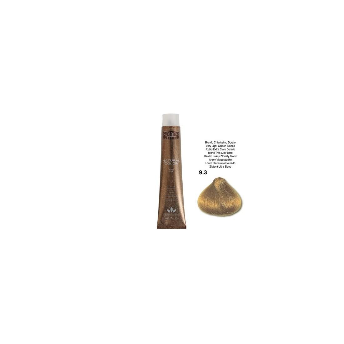 COLORATION SANS PPD - SOL.FINE - BLOND TRES CLAIR DORE  N° 9 . 3 - 100 ml