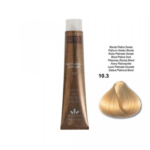 COLORATION SANS PPD - SOL.FINE - BLOND PLATINE DORE  N ° 10 . 3 - 100 ml