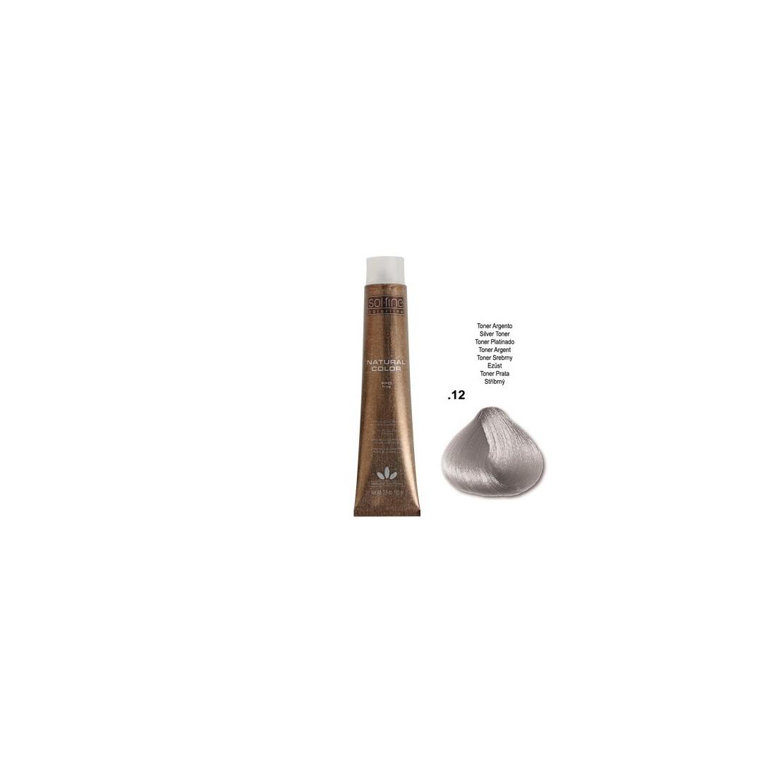 COLORATION SANS PPD - SOL.FINE - TONER ARGENT  N°  . 12 - 100 ml