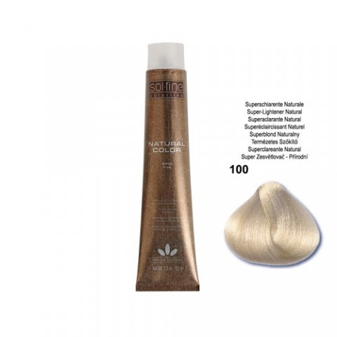 COLORATION SANS PPD - SOL.FINE - SUPER ECLAICISSANT NATUREL  N ° 100 - 100 ml