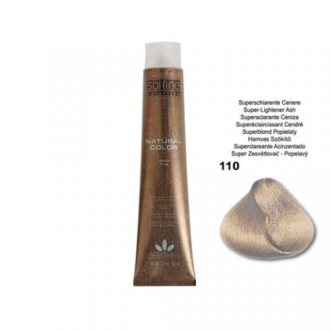 COLORATION SANS PPD - SOL.FINE - SUPER ECLAICISSANT CENDRE  N ° 110 - 100 ml