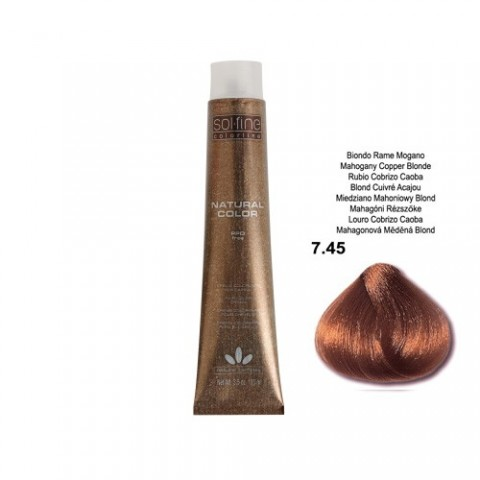 COLORATION SANS PPD - SOL.FINE - BLOND CUIVRE ACAJOU  N° 7 . 45 - 100 ml