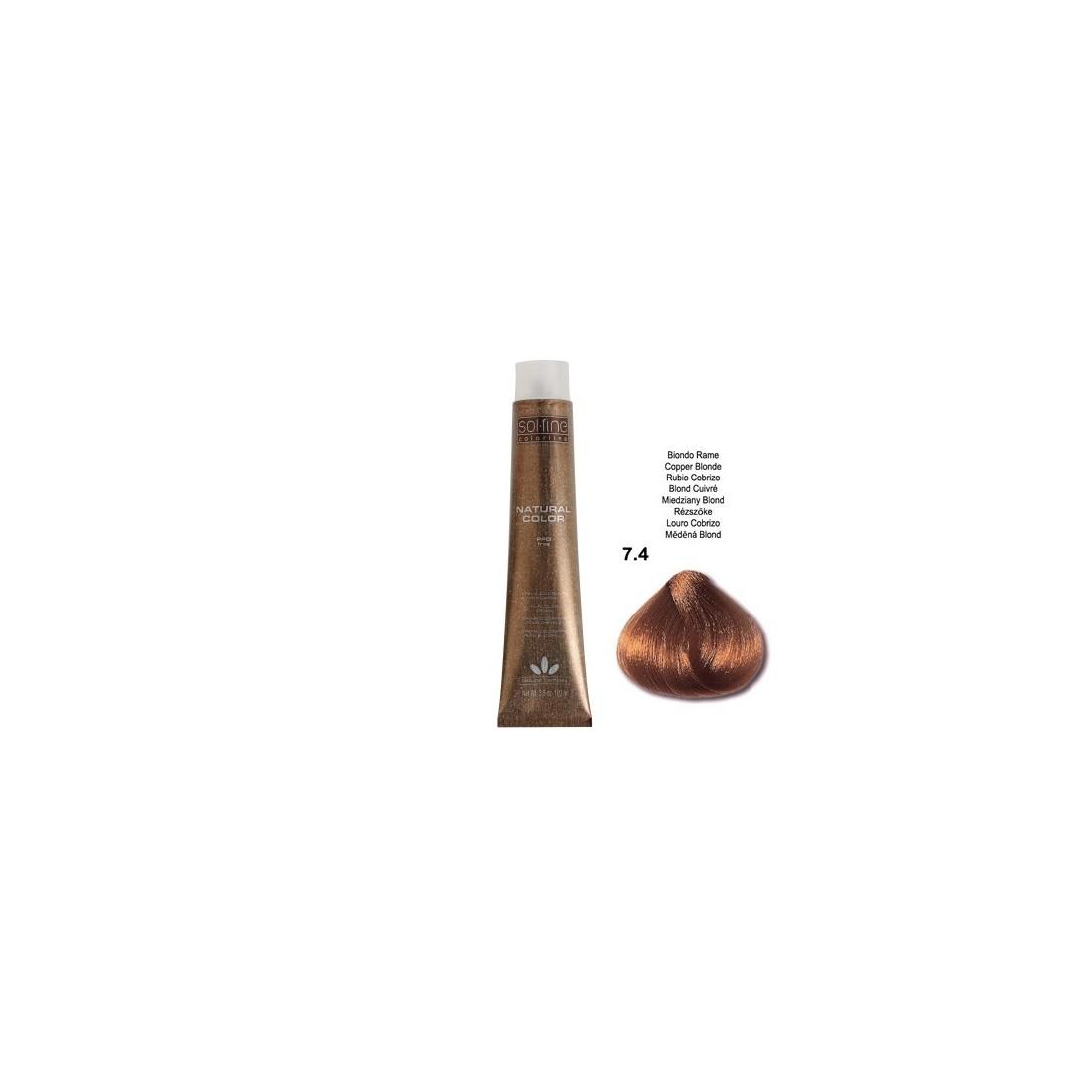 COLORATION SANS PPD - SOL.FINE - BLOND CUIVRE  N° 7 . 4 - 100 ml