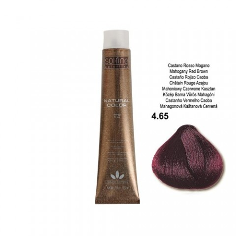 COLORATION SANS PPD - SOL.FINE - CHOCOLAT  N ° 4 . 65 - 100 ml