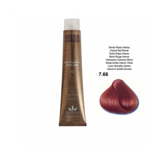 COLORATION SANS PPD - SOL.FINE - BLOND ROUGE INTENSE  N ° 7 . 66 - 100 ml