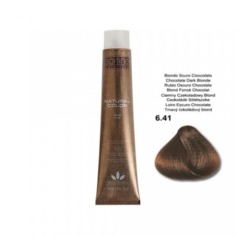 COLORATION SANS PPD - SOL.FINE - BLOND FONCE CHOCOLAT  N ° 6 . 41 - 100 ml