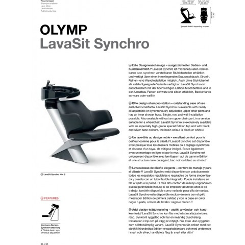 BAC A SHAMPOING LAVASIT OLYMP SYNCHRO